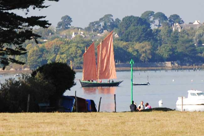 voile traditionnelle golfe morbihan